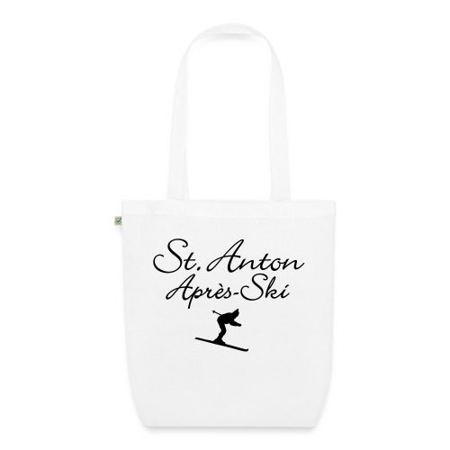 St. Anton Après-Ski Skifahrer - Bio-Stoffbeutel