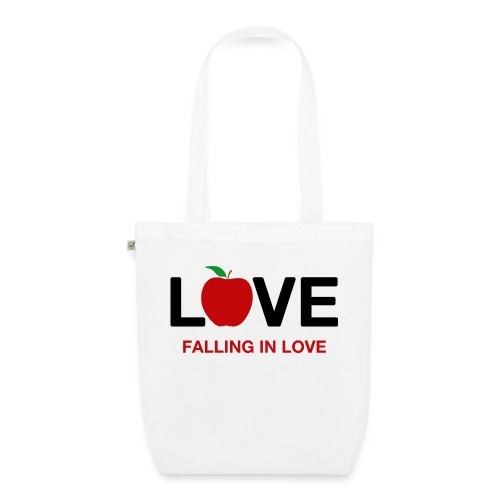 Falling in Love - Black - EarthPositive Tote Bag