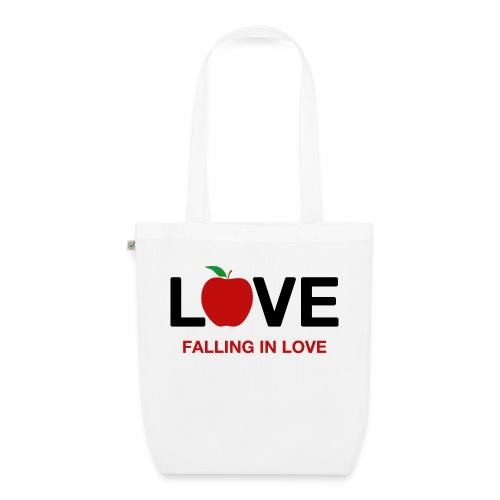 Falling in Love - Black - EarthPositive Tote Bag