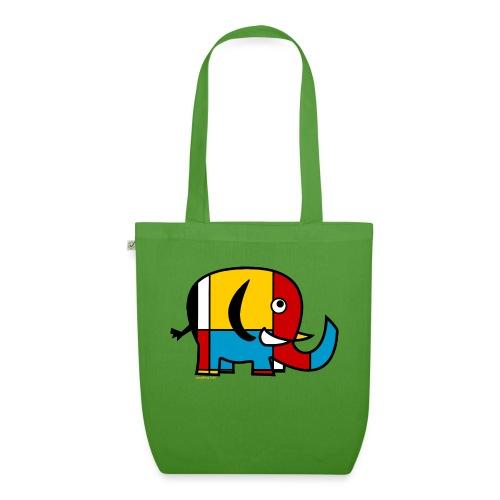 Mondrian Elephant - EarthPositive Tote Bag