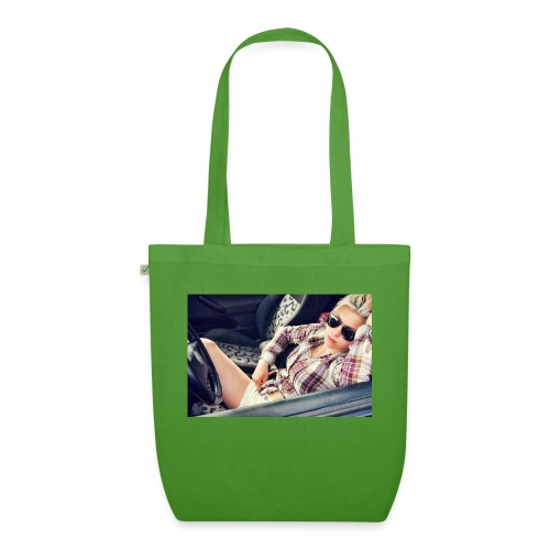 Cool woman in car - EarthPositive Tote Bag
