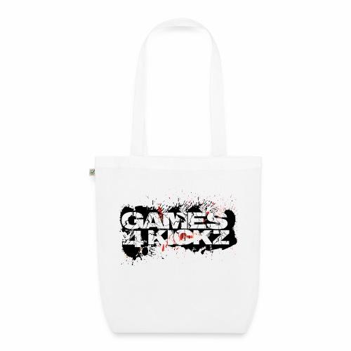 Games4Kickz Logo Splattered Background - EarthPositive Tote Bag