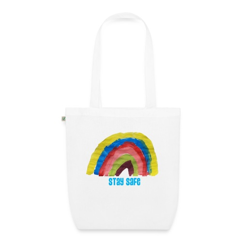 Stay Safe Rainbow Tshirt - EarthPositive Tote Bag
