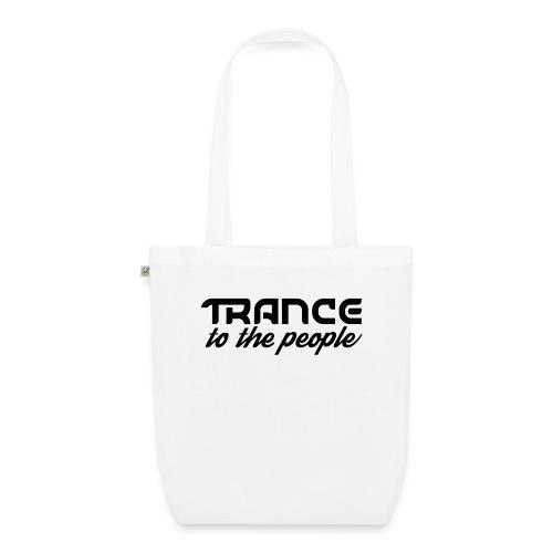 Trance to the People Sort Logo - Øko-stoftaske