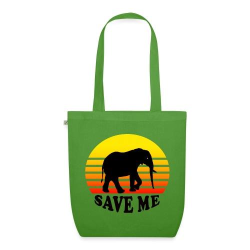 Elefant SAVE ME Schattenriss Sonne - Bio-Stoffbeutel
