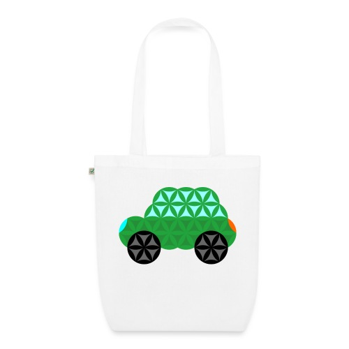The Car Of Life - M01, Sacred Shapes, Green/363 - EarthPositive Tote Bag