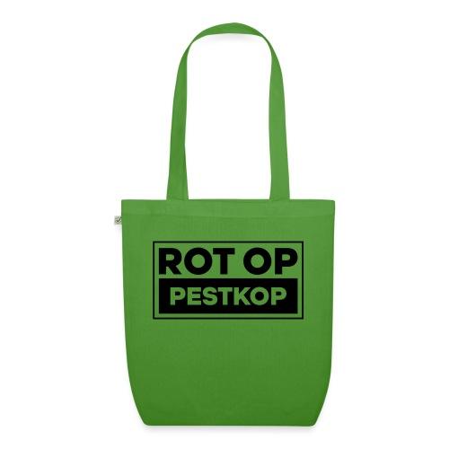 Rot Op Pestkop - Block Black - Bio stoffen tas