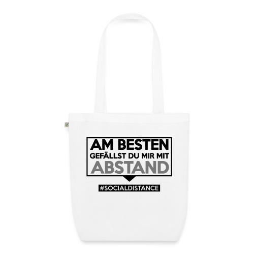 Am Besten gefällst Du mir mit ABSTAND. sdShirt.de - Bio-Stoffbeutel