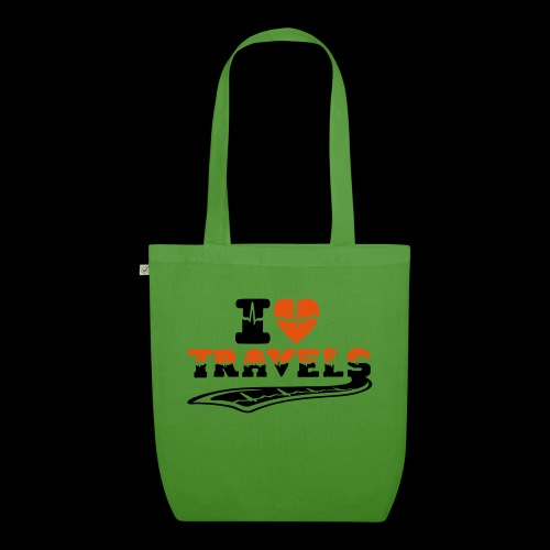 i love travels surprises 2 col - EarthPositive Tote Bag