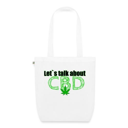 Let´s talk about CBD - Cannabis CBD Öl Merch - Bio-Stoffbeutel