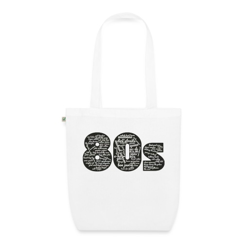 Cloud words 80s white - EarthPositive Tote Bag
