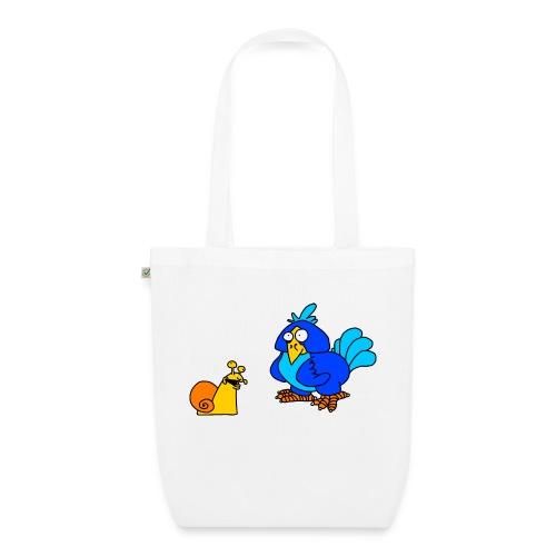 Schnecke und Vogel von dodocomics - Bio-Stoffbeutel