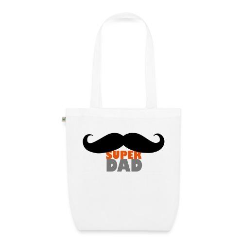 superdad moustache - Bio-Stoffbeutel
