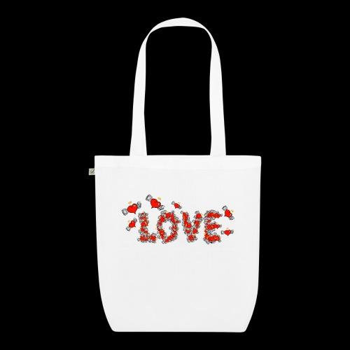 Flying Hearts LOVE - Øko-stoftaske