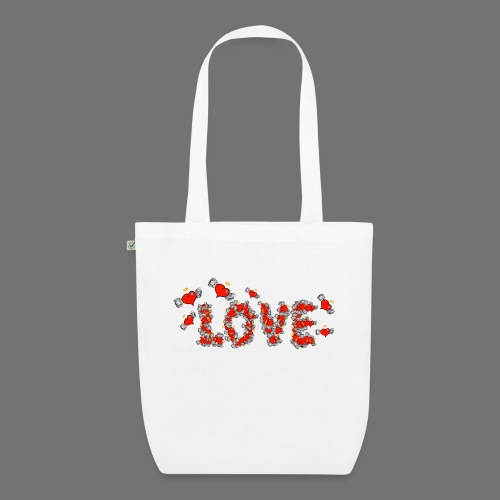 Flying Hearts LOVE - EarthPositive Tote Bag