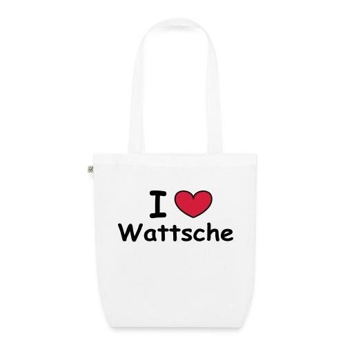 I love Wattsche - Bio-Stoffbeutel