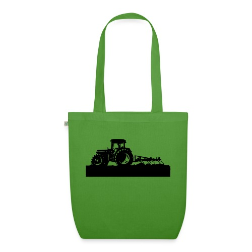 Tractor with cultivator - EarthPositive Tote Bag