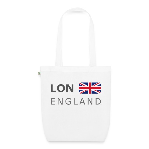 LON ENGLAND BF dark-lettered 400 dpi - EarthPositive Tote Bag