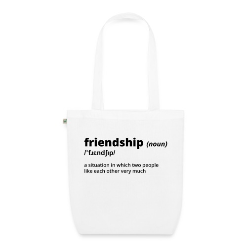 Friendship - Shirt (100% bio und fairtrade) - Bio-Stoffbeutel