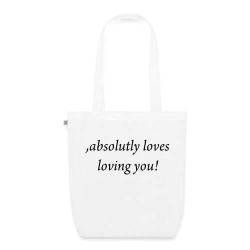 absolutly loves loving - Luomu-kangaskassi