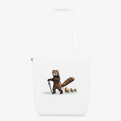 Red Panda with Ducks - EarthPositive Tote Bag