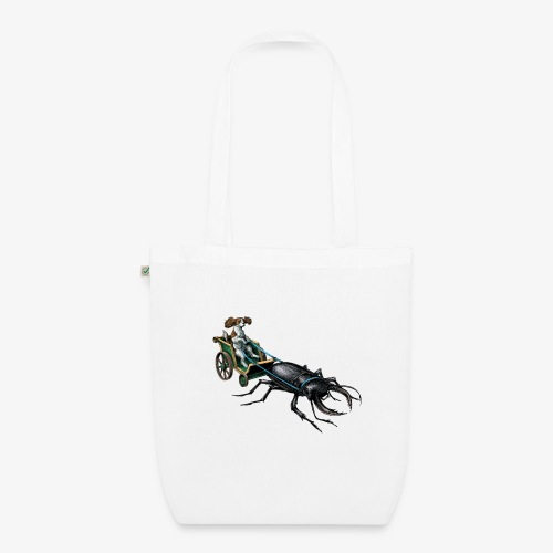 King Charles Spaniel with Stag beetle steed - EarthPositive Tote Bag