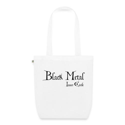 black metal Inner Circle, black ink - EarthPositive Tote Bag