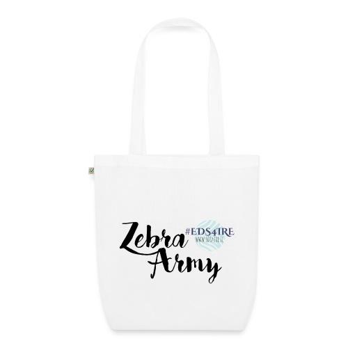 Zebra Army (black) - EarthPositive Tote Bag