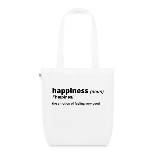 Happiness - Shirt (100% bio und fairtrade) - Bio-Stoffbeutel