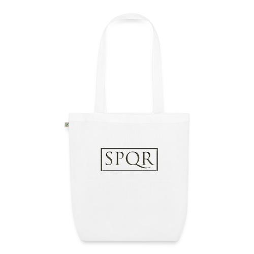 SPQR czarne (black) - Ekologiczna torba materiałowa