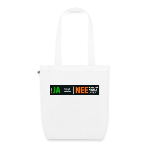 Ja ik maak websites - Bio stoffen tas
