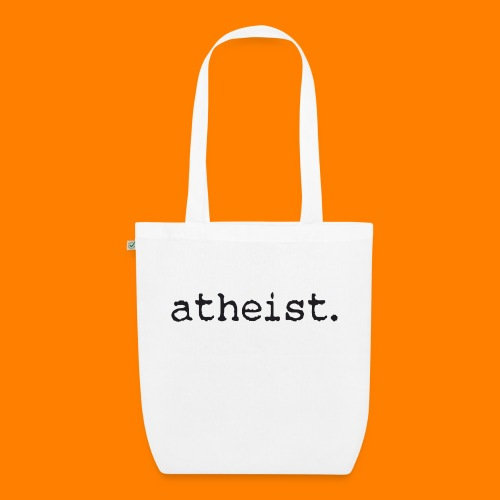 atheist BLACK - EarthPositive Tote Bag
