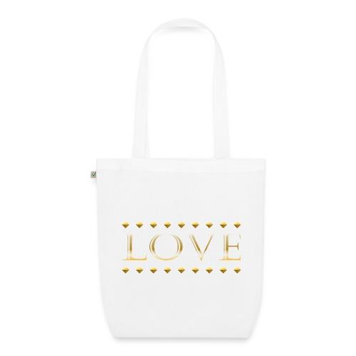 Love oro - Bolsa de tela ecológica