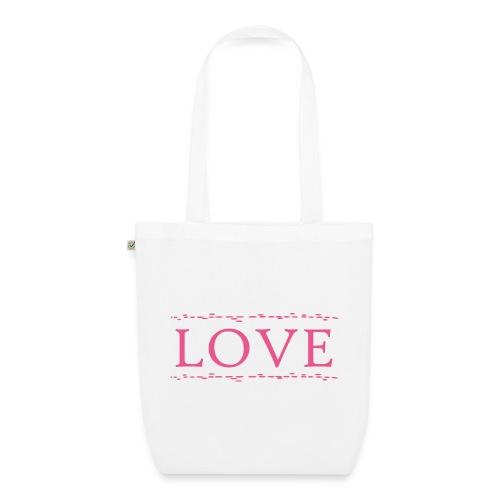 Love color rosa - Bolsa de tela ecológica