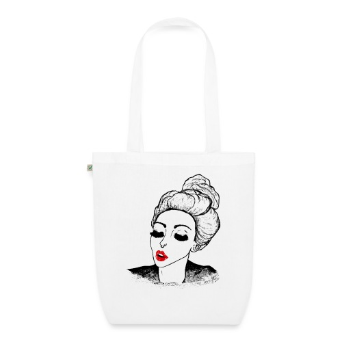 Vintage Retro Girl Kiss message - EarthPositive Tote Bag