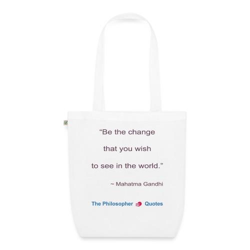 Gandhi Be the change b - Bio stoffen tas