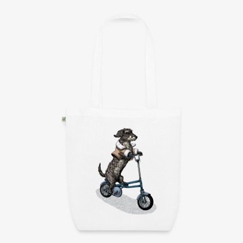Dog Cyclist - EarthPositive Tote Bag