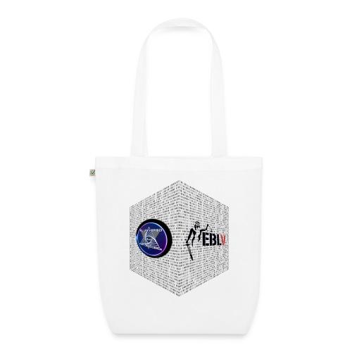 disen o dos canales cubo binario logos delante - EarthPositive Tote Bag