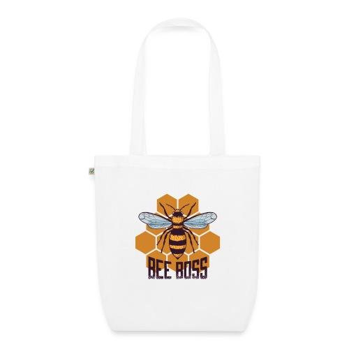 Bee Boss Biene Bienenkönigin Waben - Bio-Stoffbeutel