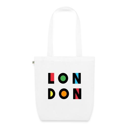 Vintage London Souvenir - Retro Modern Art London - Bio-Stoffbeutel