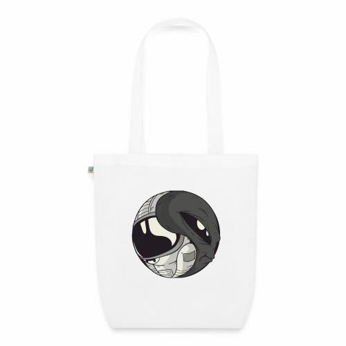 Yin Yang space Alien und Astronaut - Bio-Stoffbeutel