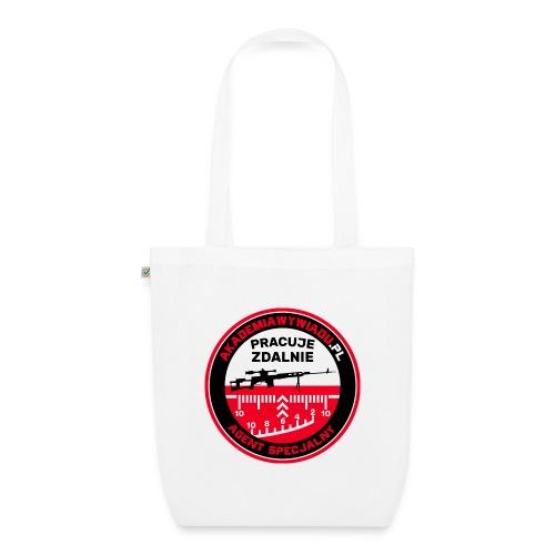 Emblemat Pracuje zdalnie - Akademia Wywiadu™ - Ekologiczna torba materiałowa