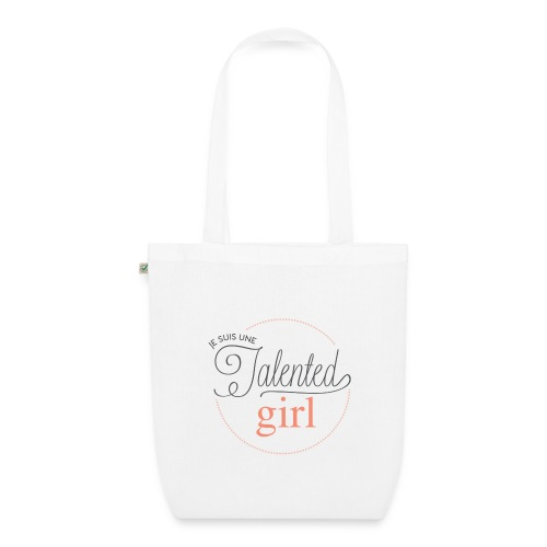 logo je suis une talented girl Final png - Sac en tissu biologique