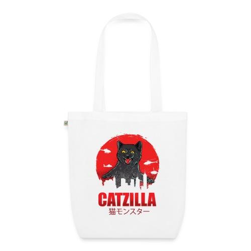 Catzilla Katzen Horror B-Movie Parodie - Bio-Stoffbeutel