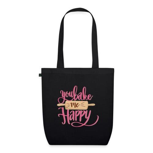 You bake me HAPPY (pink) - Ekologisk tygväska