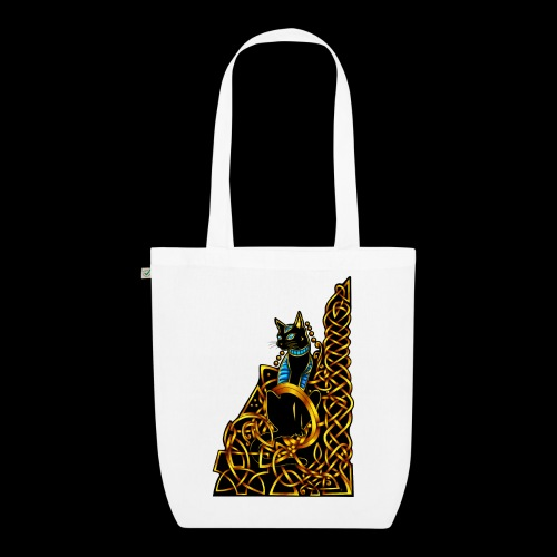 Celtic Cat - sitting - EarthPositive Tote Bag