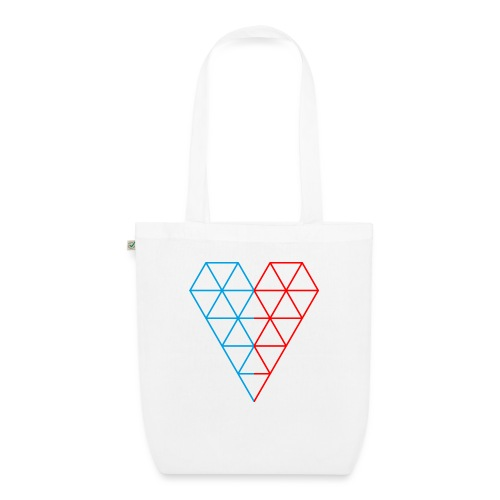 The Heart of Life x 1, Dual Polygon. - EarthPositive Tote Bag