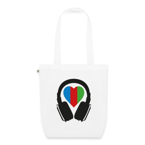 Silent Disco Headphone > Heart | black - Bio-Stoffbeutel