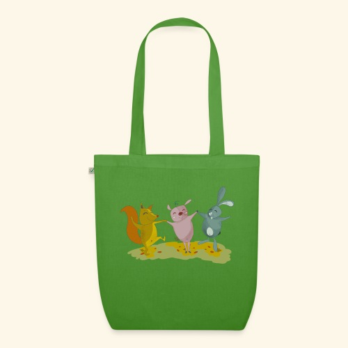 happy friends - EarthPositive Tote Bag