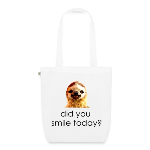 did you smile today? - Øko-stoftaske